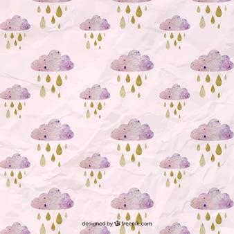 Acuarela Rainclouds Patrón