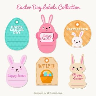 Adorable colección de etiquetas de Día de Pascua