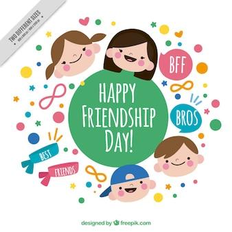 Adorable fondo del día de la amistad