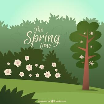Adorable paisaje primaveral