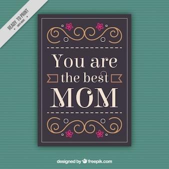 Adorable tarjeta del día de la madre con una frase emotiva
