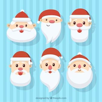 Adorables avatares de santa claus