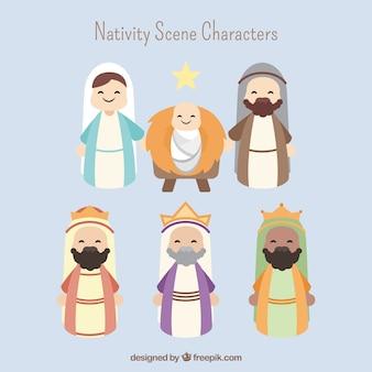 Adorables personajes de portal de belén