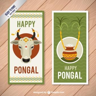 Adorables tarjetas de feliz Pongal