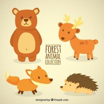 Adorables y pequeños animales del bosque