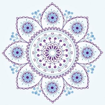 Adorno floral hindú