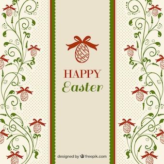 Adornos florales Fondo de Pascua