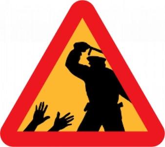 advertencia de la brutalidad policial