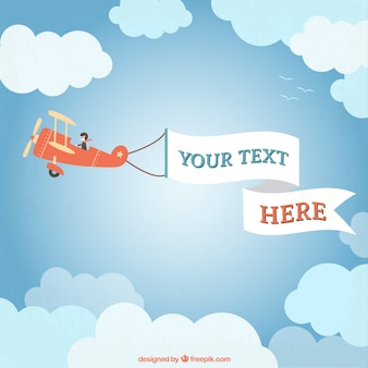 Aeroplano ligero con una pancarta