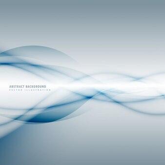 Ahumada onda azul en fondo gris