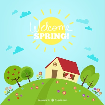 Alegre fondo de primavera