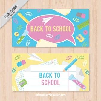 Alegres banners para la escuela