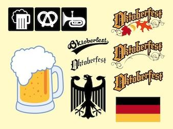 Alemania Oktoberfest elementos gráficos vectoriales