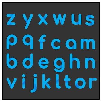 Alfabeto con diseño azul