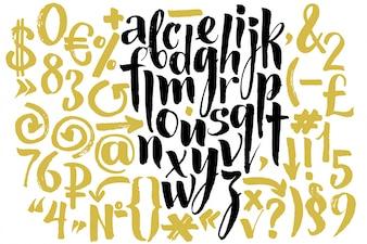 Alfabeto con diseño creativo