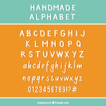 Alfabeto hecho a mano