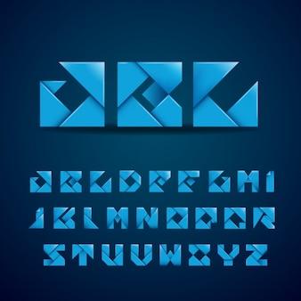Alfabeto hecho con papel