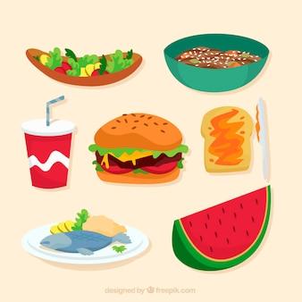 Alimentos sabrosos y variados