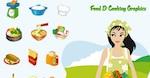 Alimentos y Cocina gráficos vectoriales