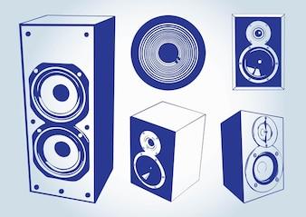 altavoces vectores música