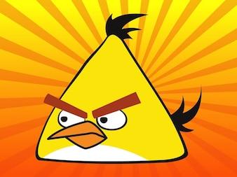 Amarillo enojado vector juegos pájaro