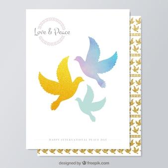 Amor y paz tarjetas