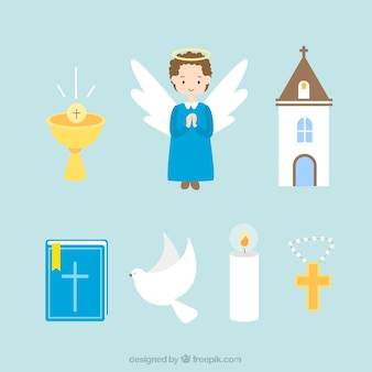ángel y elementos religiosos
