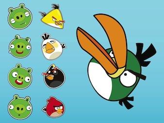 Angry birds expresiones iconos de medios sociales