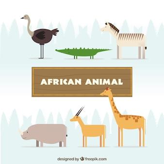 Animales africanos salvajes