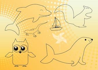 Animales esquema gráfico