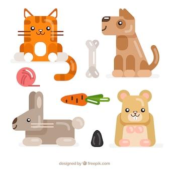 Animales lindos de la ilustración