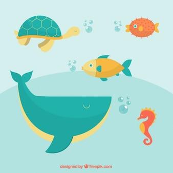 Animales salvajes bajo el mar