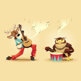 Animales tocando instrumentos musicales