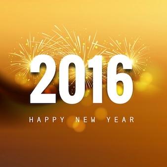 Año nuevo 2016 tarjeta brillante
