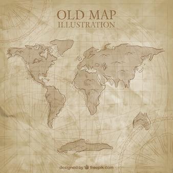 Antiguo mapa del mundo