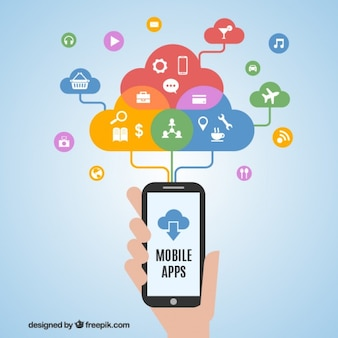 Aplicaciones de teléfono móvil concepto