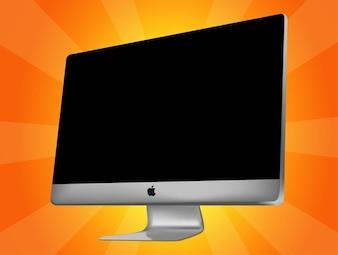 Apple iMac todo en un vector equipo