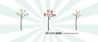 árbol de flor