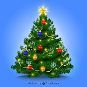 Árbol de Navidad con adornos