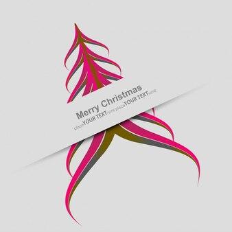 Árbol de navidad elegante en color rosa
