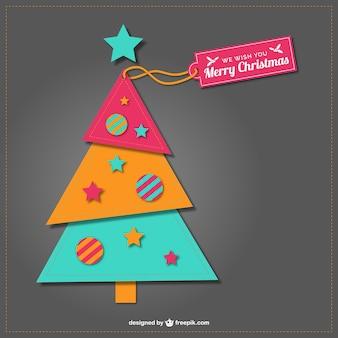 Árbol de Navidad estilo collage