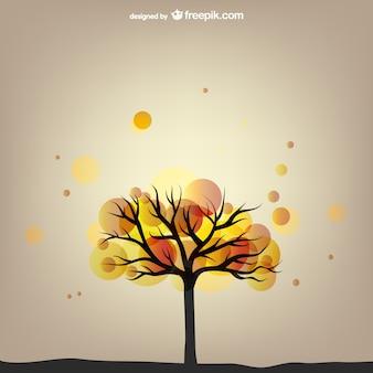 Árbol de otoño abstracto