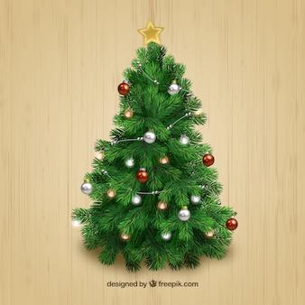 árbol realista de navidad