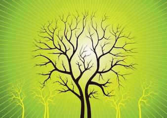 árboles de arte vectorial