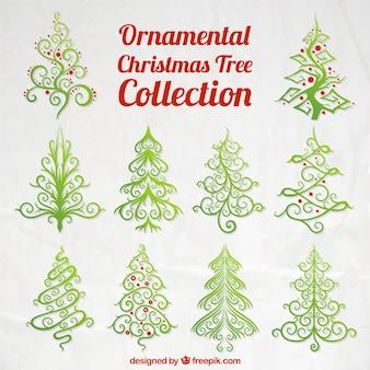 árboles ornamentales de navidad