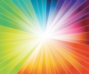 arco iris de explosión de gráficos vectoriales