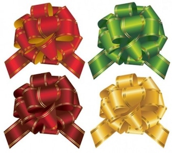 Arcos de regalo realista y colorido juego