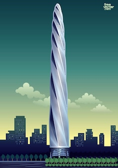 Arquitectura de rascacielos de gran altura
