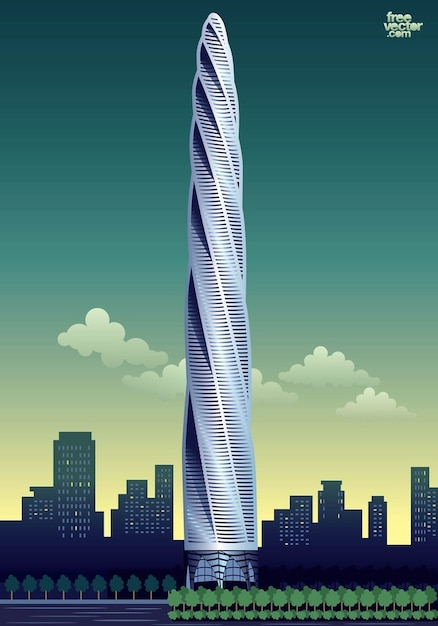 de rascacielos de gran altura