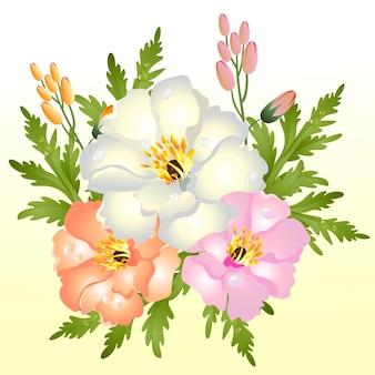 Arreglo de flores de color
